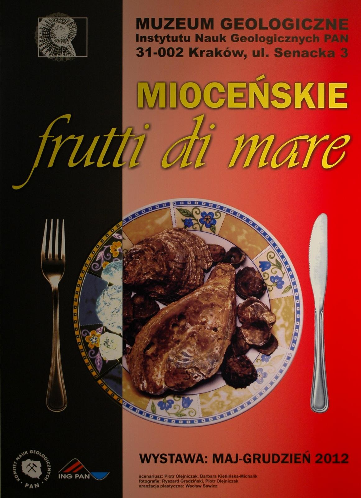 Mioceńskie Frutti di Mare - Muzeum Geologiczne Instytutu Nauk Geologicznych PAN