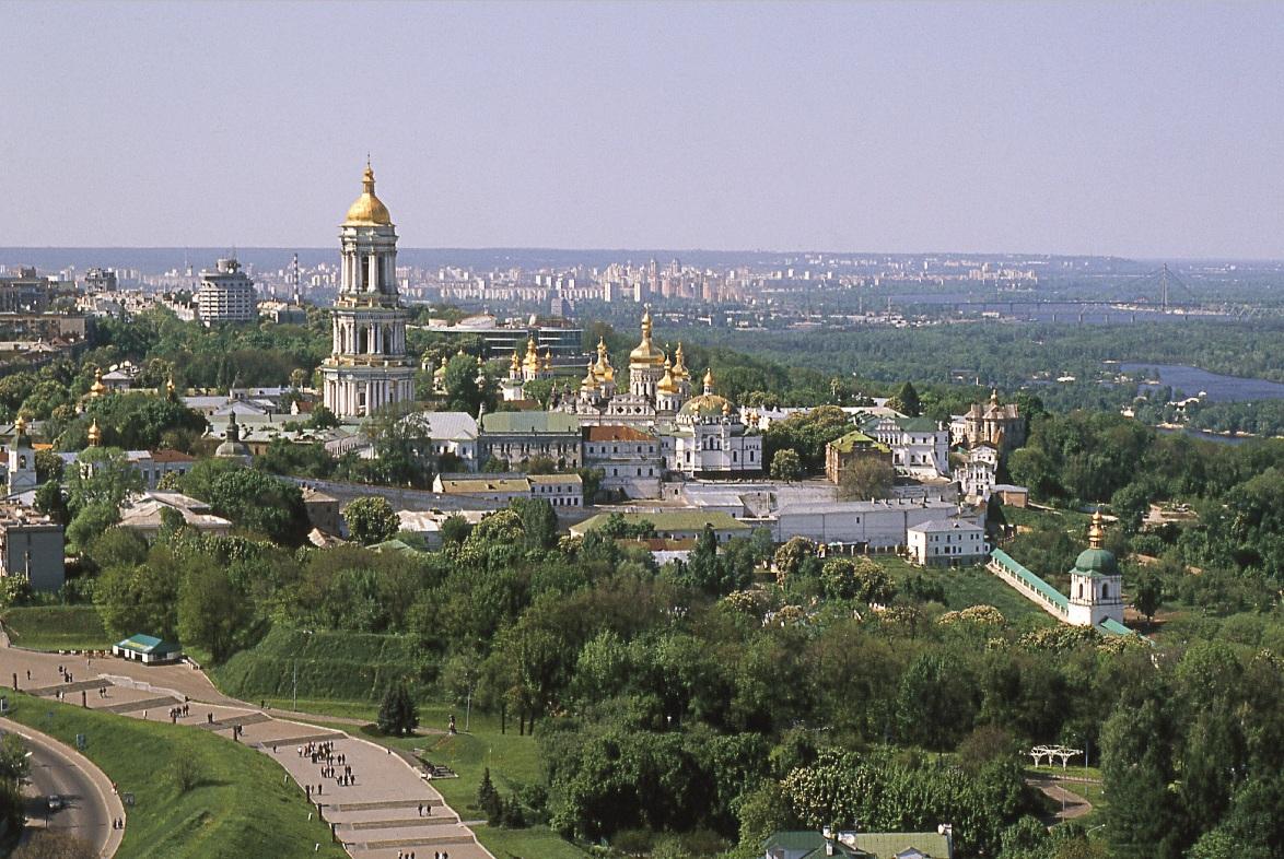 7 Panorama Ławry Kijowsko-Peczerskiej, widok od strony południowej