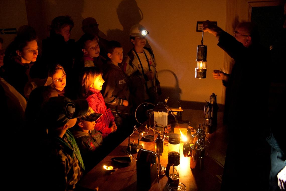 Noc Muzeów - światło w kopalni, fot. L.Kostuś