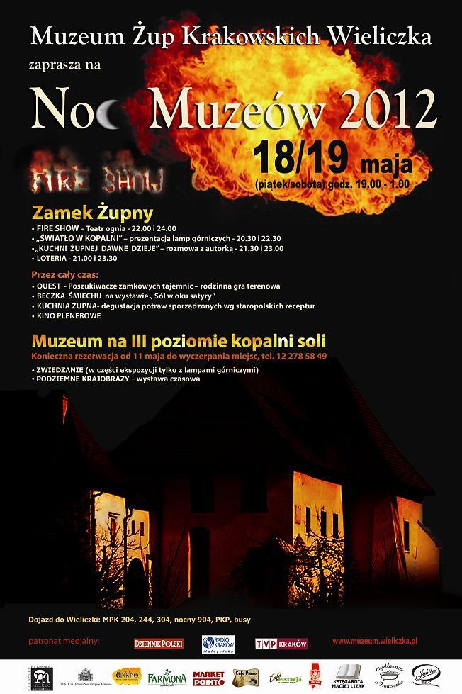 Noc Muzeów Jeden z żywiołów - ogień 18 maja 2012 r.