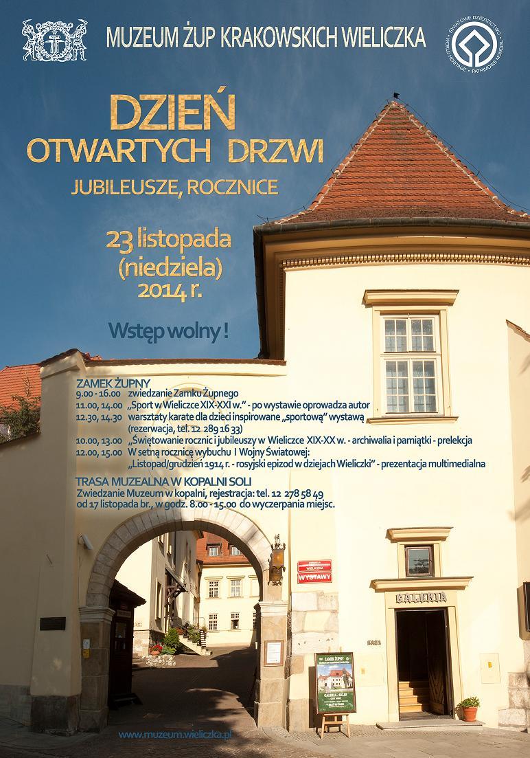 PLAKAT Dzień Otwartych Drzwi w Wieliczce