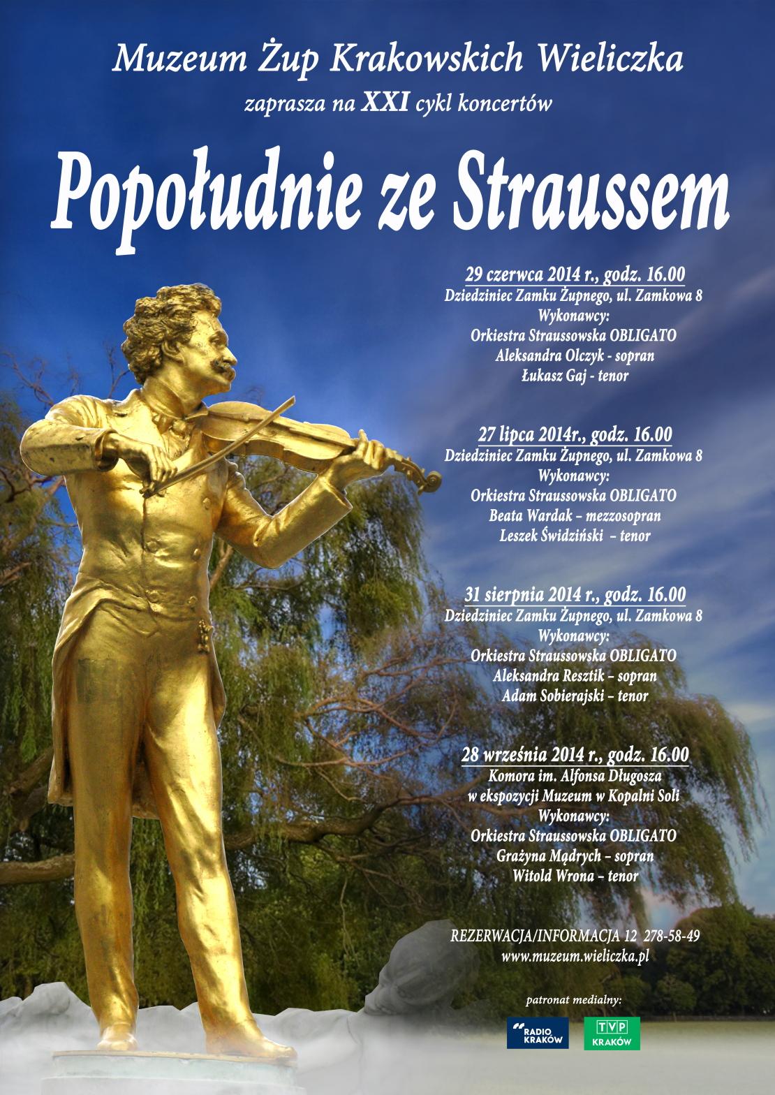 Plakat Strauss 2014, Muzeum Żup Krakowskich Wieliczka