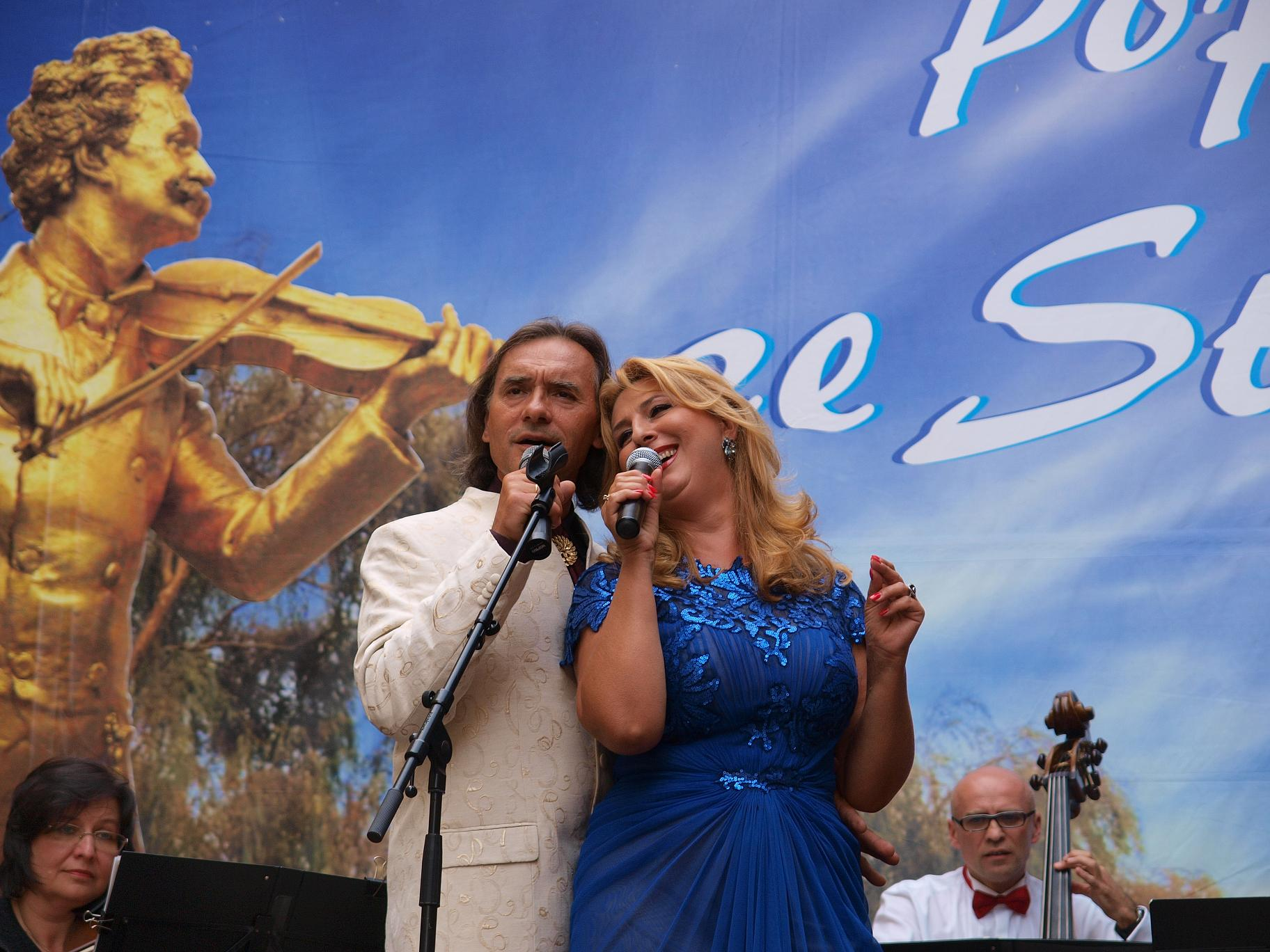 Popołudnie ze Straussem, soliści drugiego koncertu Beata Wardak i Leszek Świdziński, fot. Piotr Chwalba