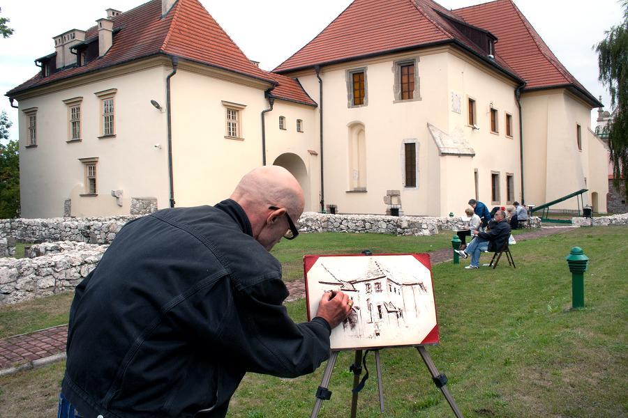 Zamek Żupny w Wieliczce inspiruje Krzysztofa Mikosia, fot. L. Kostuś