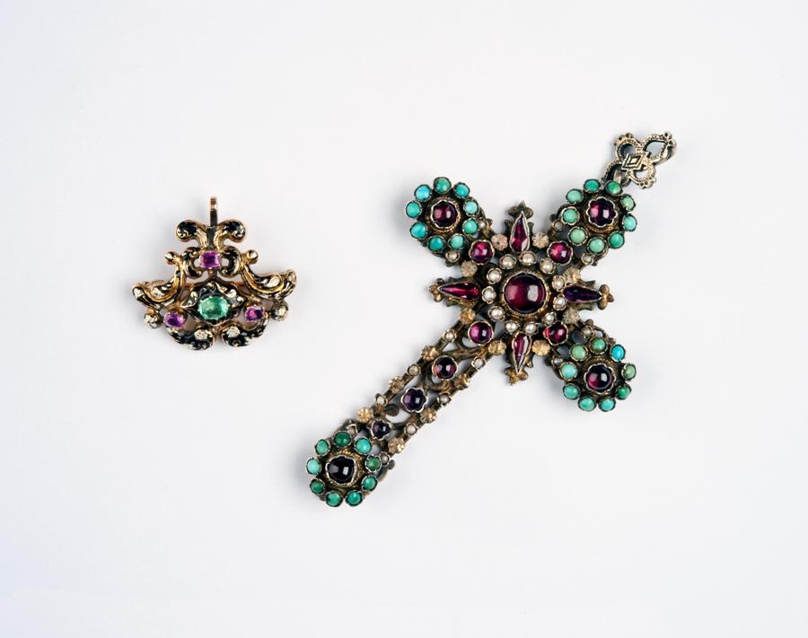 Zawieszenie i krzyż, Siedmiogród, XVIII-XIX w., Salon Antyków Kolekcjoner Nowy Sącz1