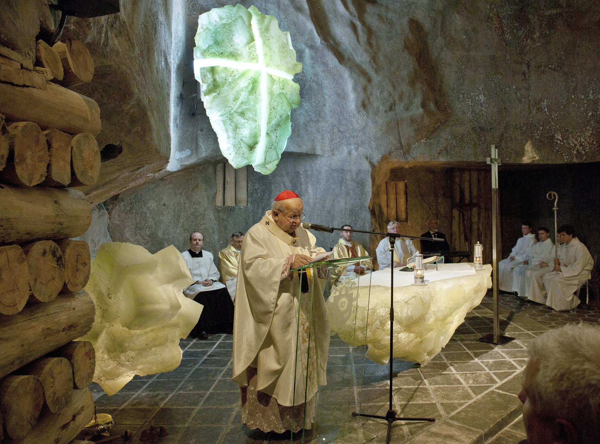 poświęcenie kaplicy Św. Jana Pawła II, Muzeum Żup Krakowskich Wieliczka